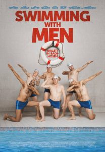 swimming with men - plakat